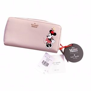 NWT Kate Spade x Minnie Mouse Lacey Wallet